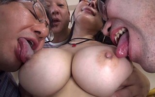 Slutty maid Arisa Hanyu colossal tits and bukkake