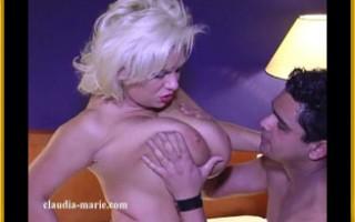 Claudia-Marie Has Her Enormous Hangers Squeezed, Sucked, & Fucked