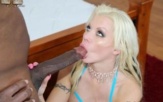 Hot slut Barbie Sins loves huge black cocks