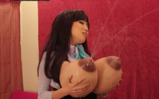 Rina playing with her monster tits.