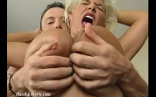 Claudia-Marie has her huge flopping tits, her asshole, and her pussy worked over
