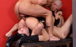 Mistress Gets her Pussy Licked While her Asshole is Plowed